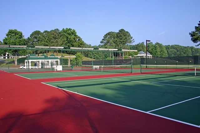 hard tennis courts