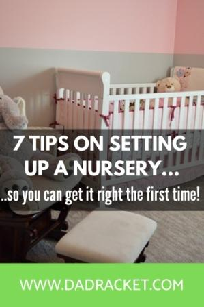 setting up a nursery for the first time