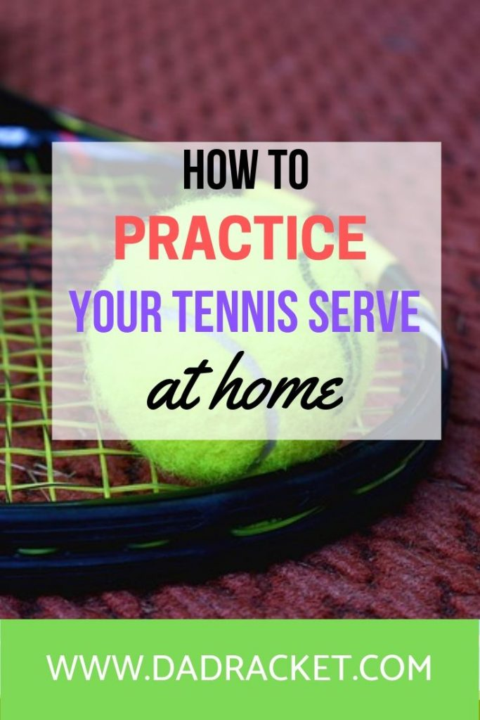 4 tips on how to practice your tennis serve at home and achieve more consistency.