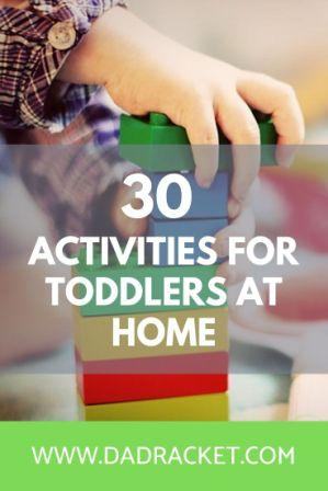 Stuck for ideas to entertain your children? Here are 30 activities for toddlers to do at home for those rainy days