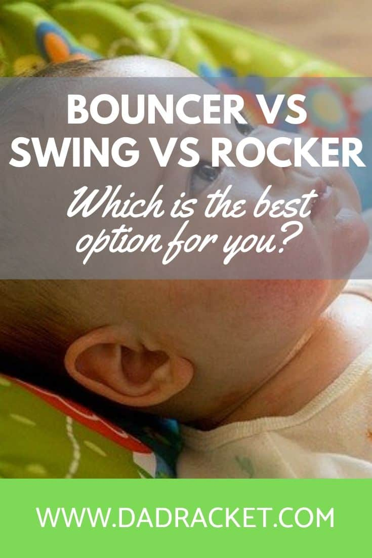 Thinking of ways to entertain your baby? Here's the lowdown on the differences between (and pros and cons) of bouncers vs swings vs rockers.