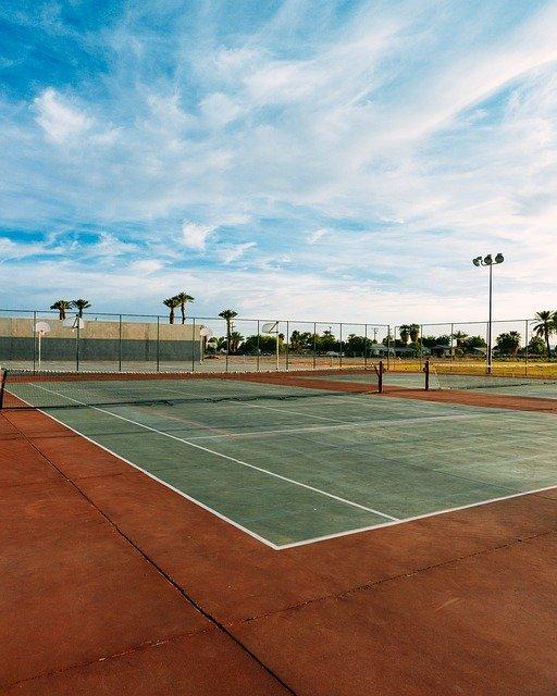 old green tennis court
