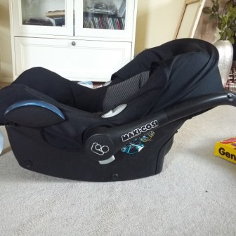 Maxi Cosi Cabriofix Car Seat - sideways view
