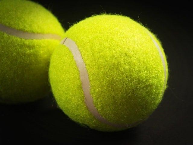 tennis ball close up image