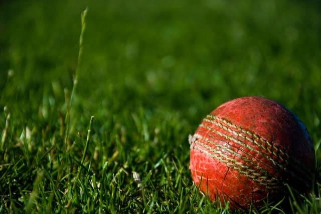worn cricket ball