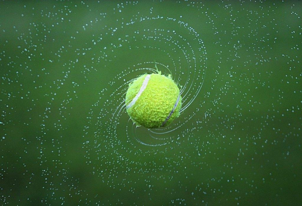 wet tennis ball